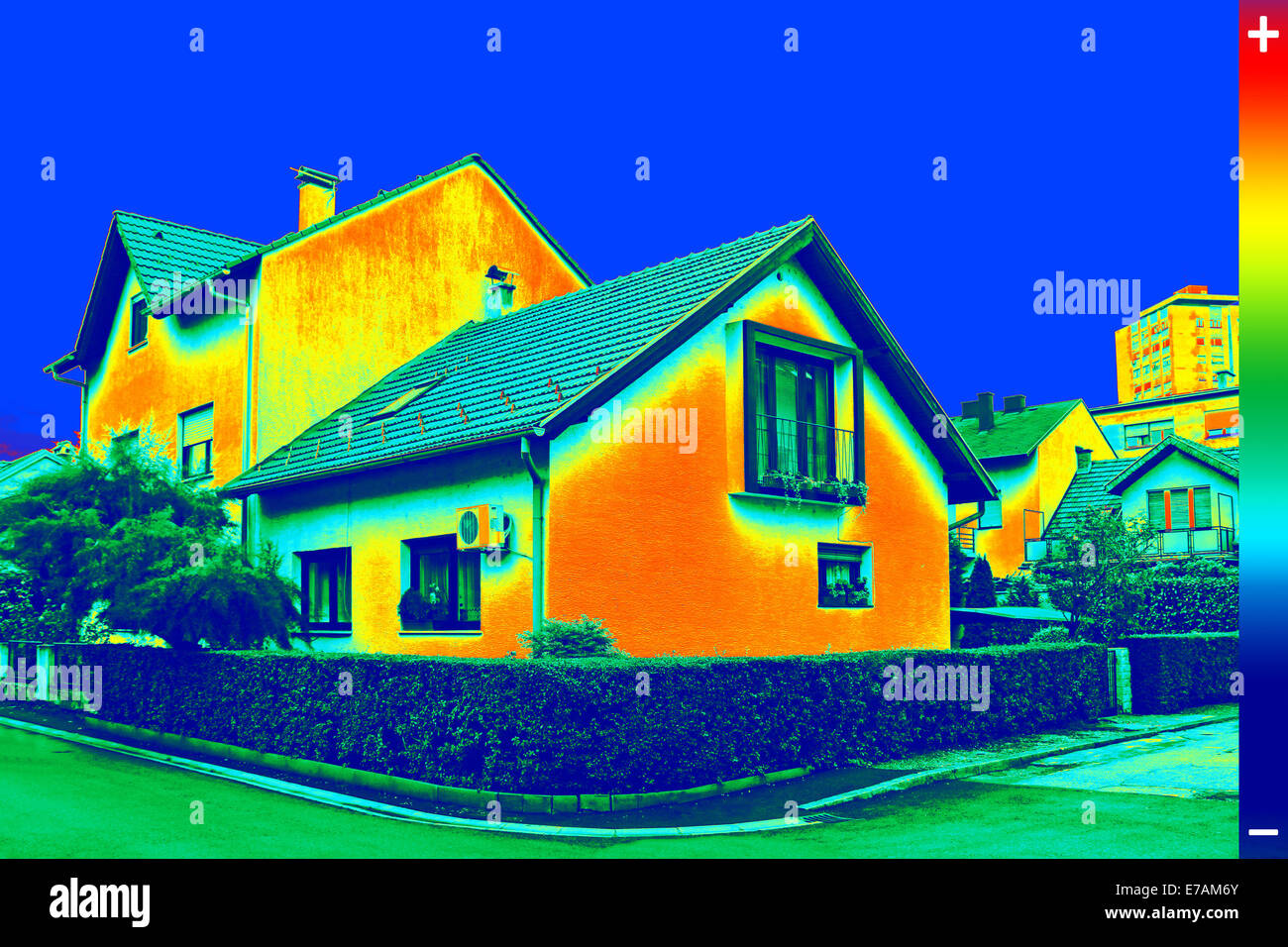 thermography house stockfotos thermography house bilder alamy. Black Bedroom Furniture Sets. Home Design Ideas