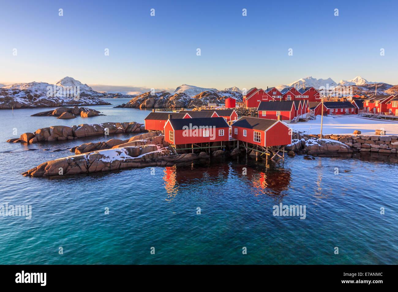 Fischerdorf auf den Lofoten Stockbild