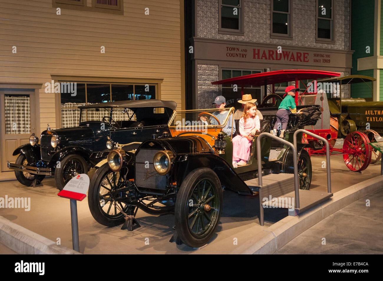 Elk203-5683 Kanada, Alberta, Wetaskiwin, Reynolds-Alberta Museum Oldtimer Automobil Stockbild
