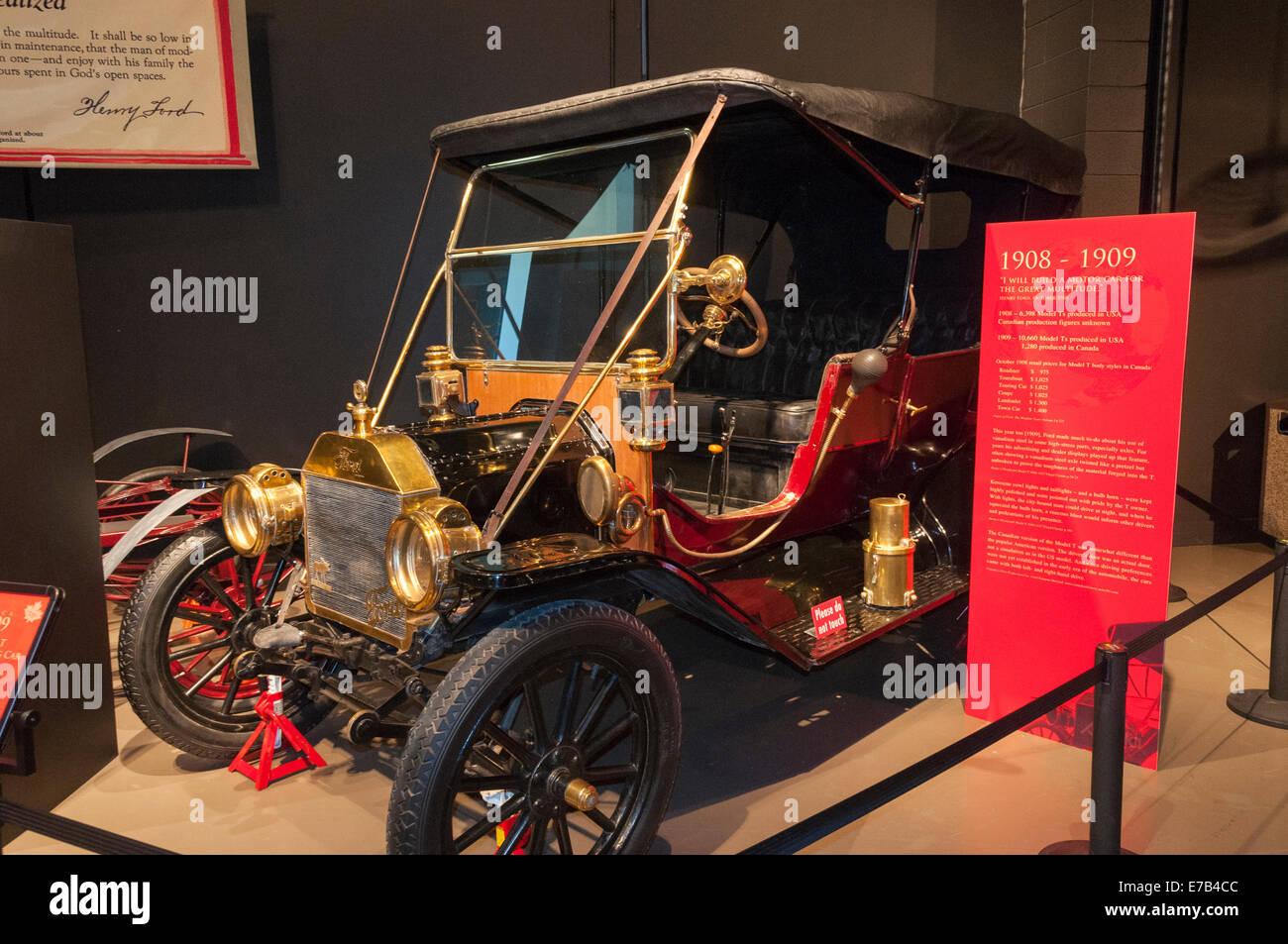 Elk203-5685 Kanada, Alberta, Wetaskiwin, Reynolds-Alberta Museum Oldtimer Automobil Stockbild