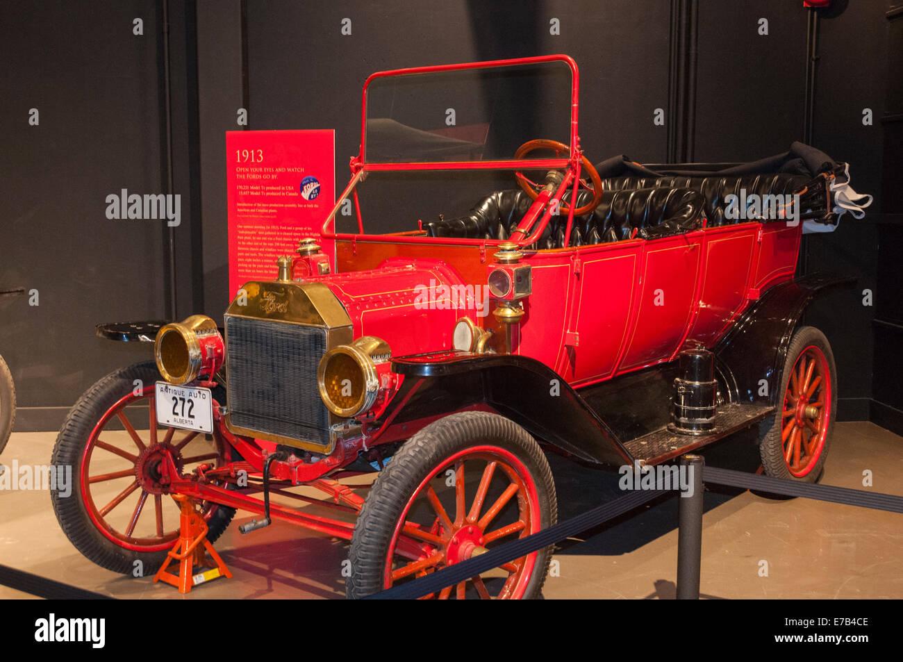 Elk203-5686 Kanada, Alberta, Wetaskiwin, Reynolds-Alberta Museum Oldtimer Automobil Stockbild