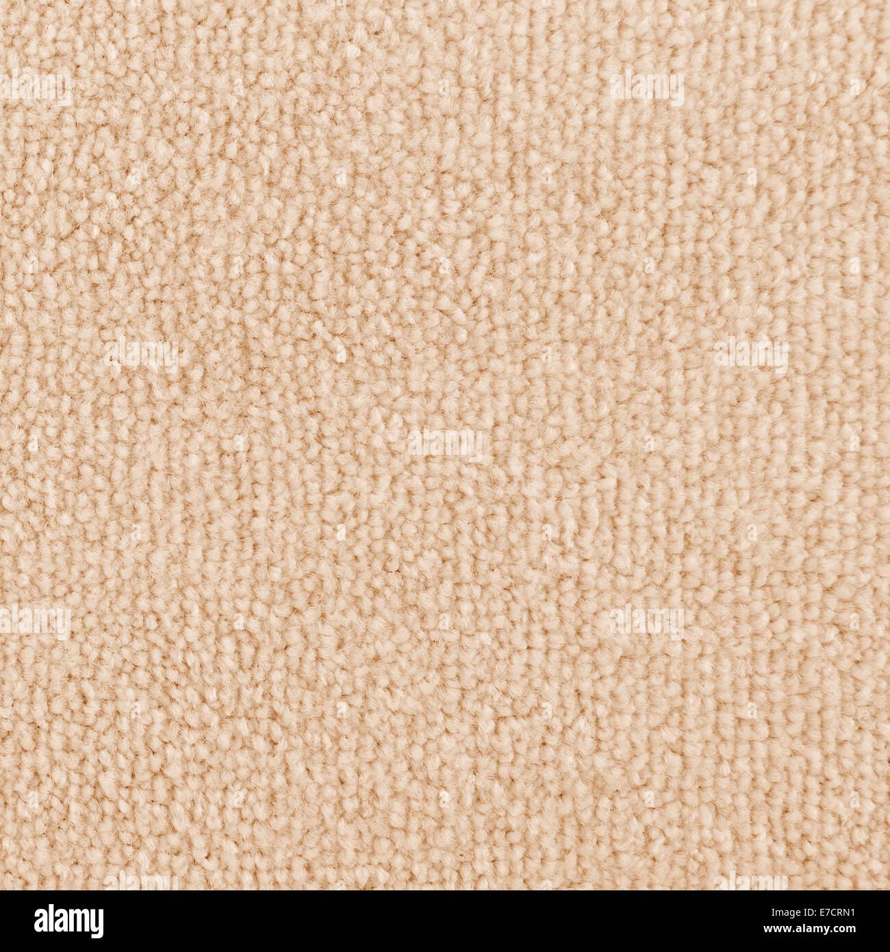 Neuer Teppich Textur. Hell Beige Teppichbodenbelag als nahtlose Hintergrund. Stockbild