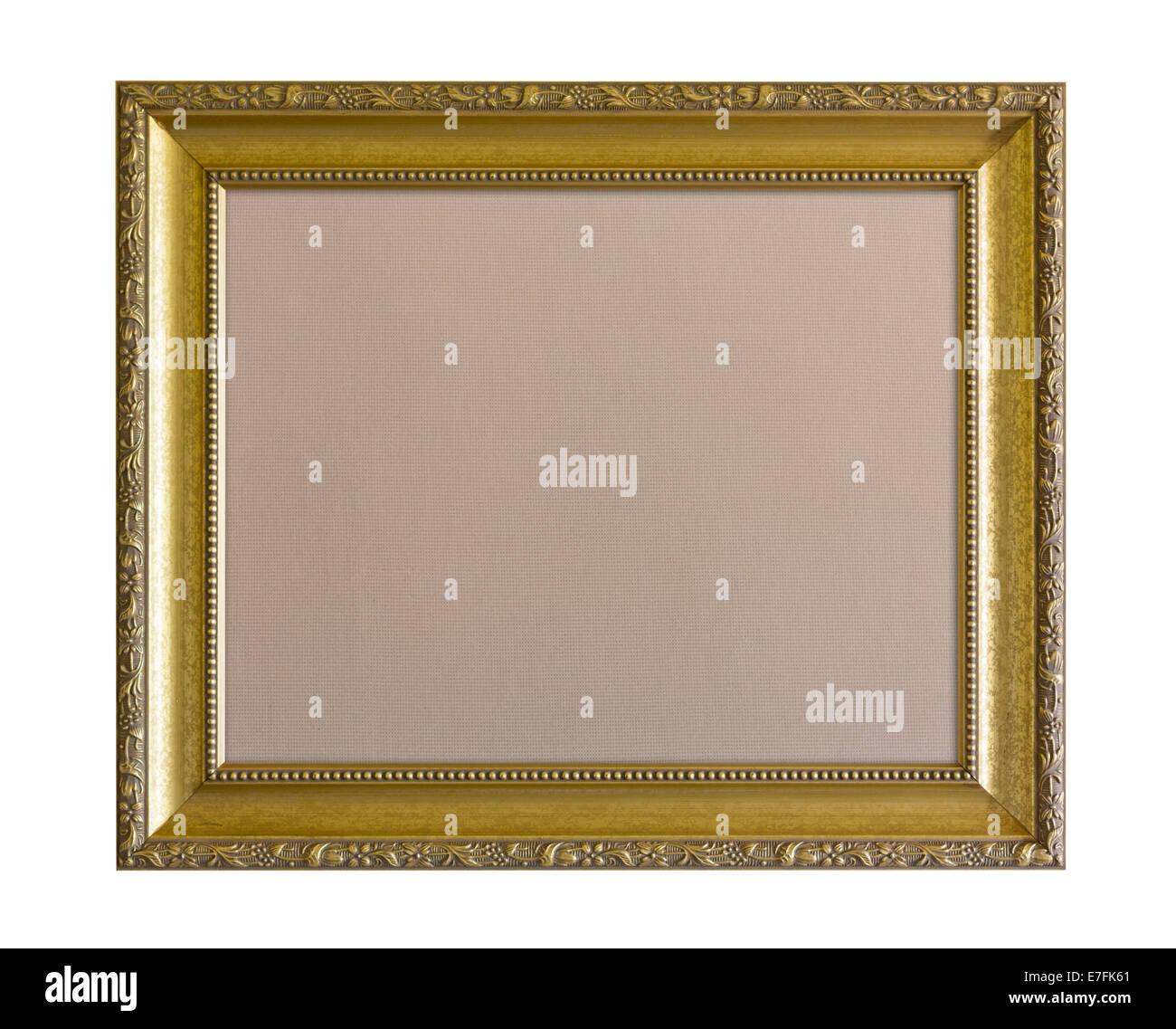 Tuch der Grundlage Pinnwand oder schwarzes Brett in Gold lackiert ...
