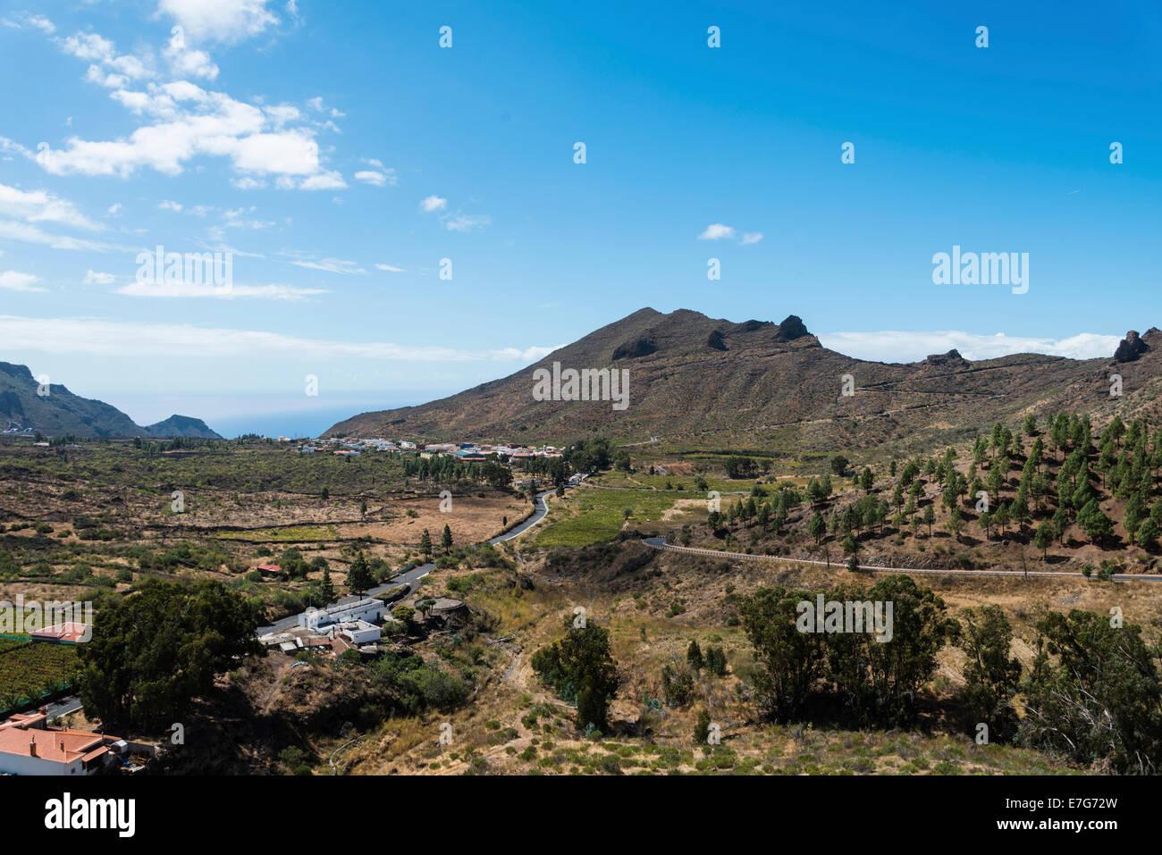 Vulkanlandschaft, Santiago del Teide, Teneriffa, Kanarische Inseln, Spanien Stockbild