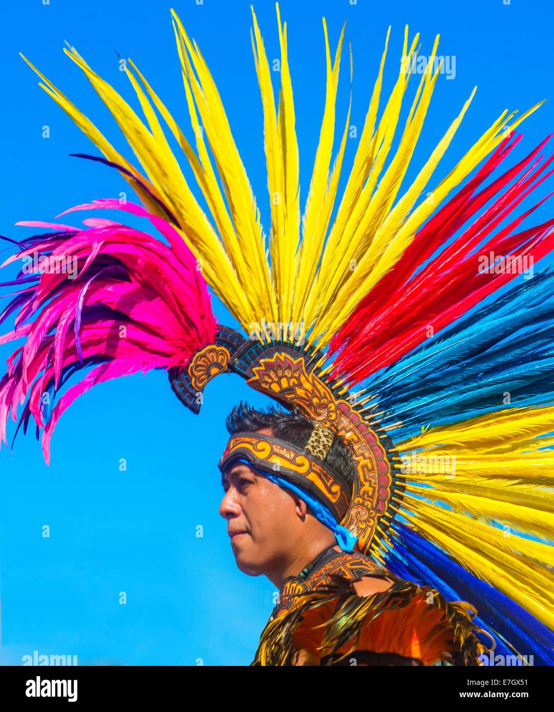 Ein Teilnehmer bei der Fiesta-Las Vegas-Parade statt in Las Vegas, Nevada Stockbild