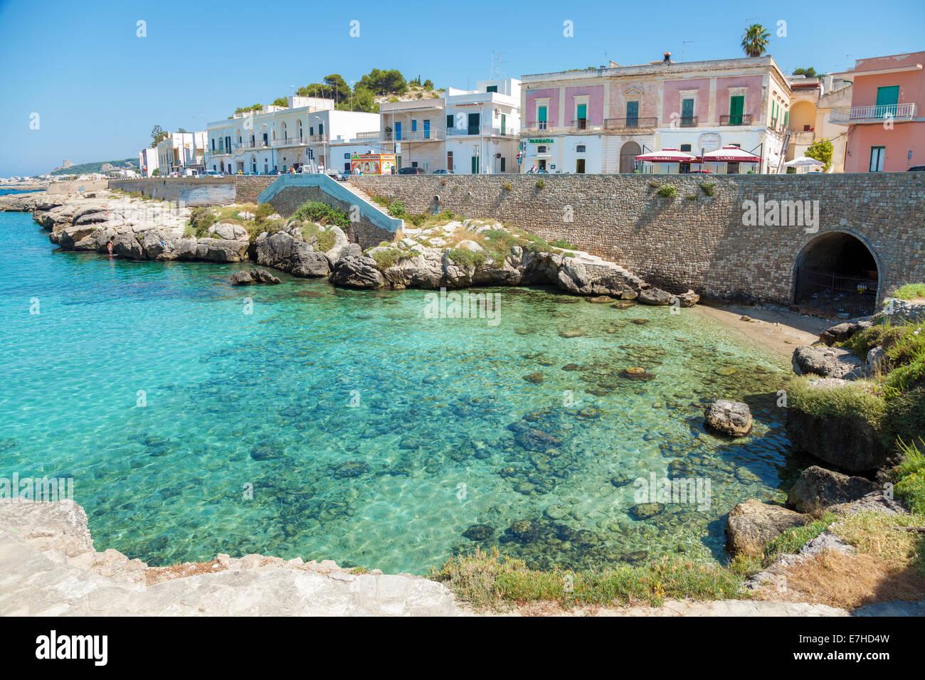 Santa maria al bagno stadtstrand in apulien italien stockfoto