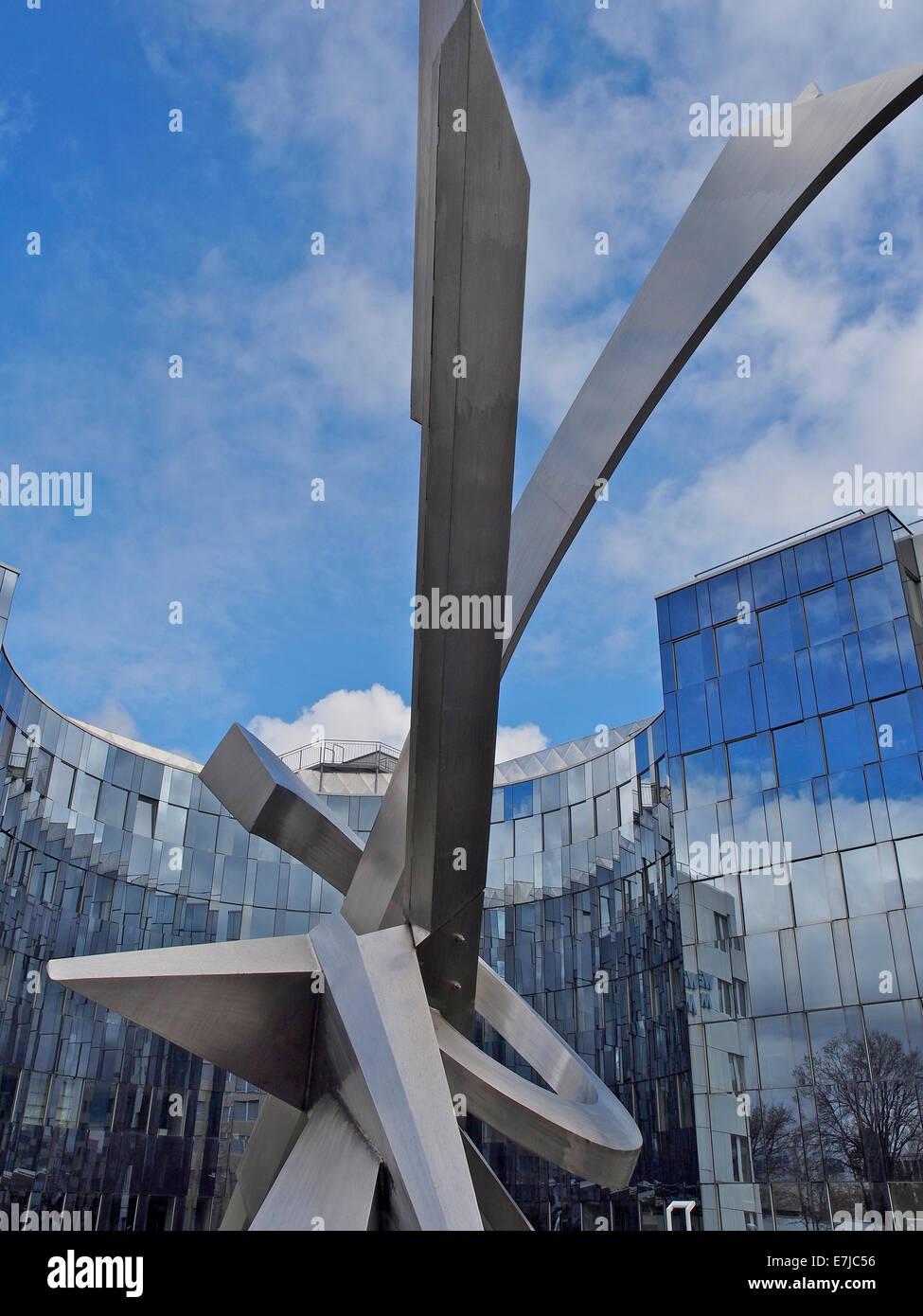 Fassade glas  Schweiz, Kanton Zürich, Schwerzenbach, Bürogebäude, Block, Fassade ...
