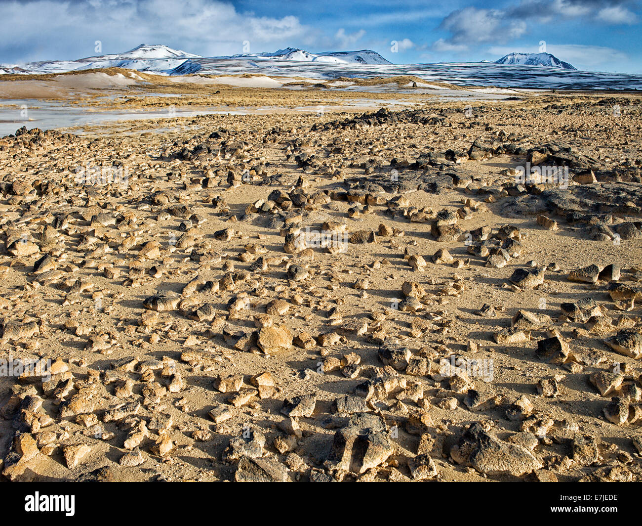 Hverir, Insel, Island, Europa, Namafjall, Nordeuropa, Reykjahild, Winter, Landschaft, Landschaft, Stockbild