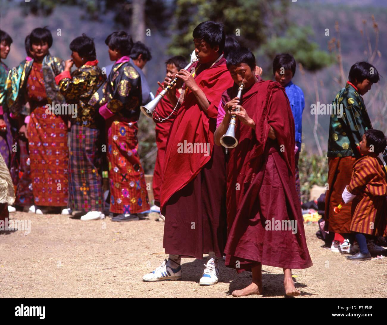 Paro, Festival, Bhutan Stockfoto