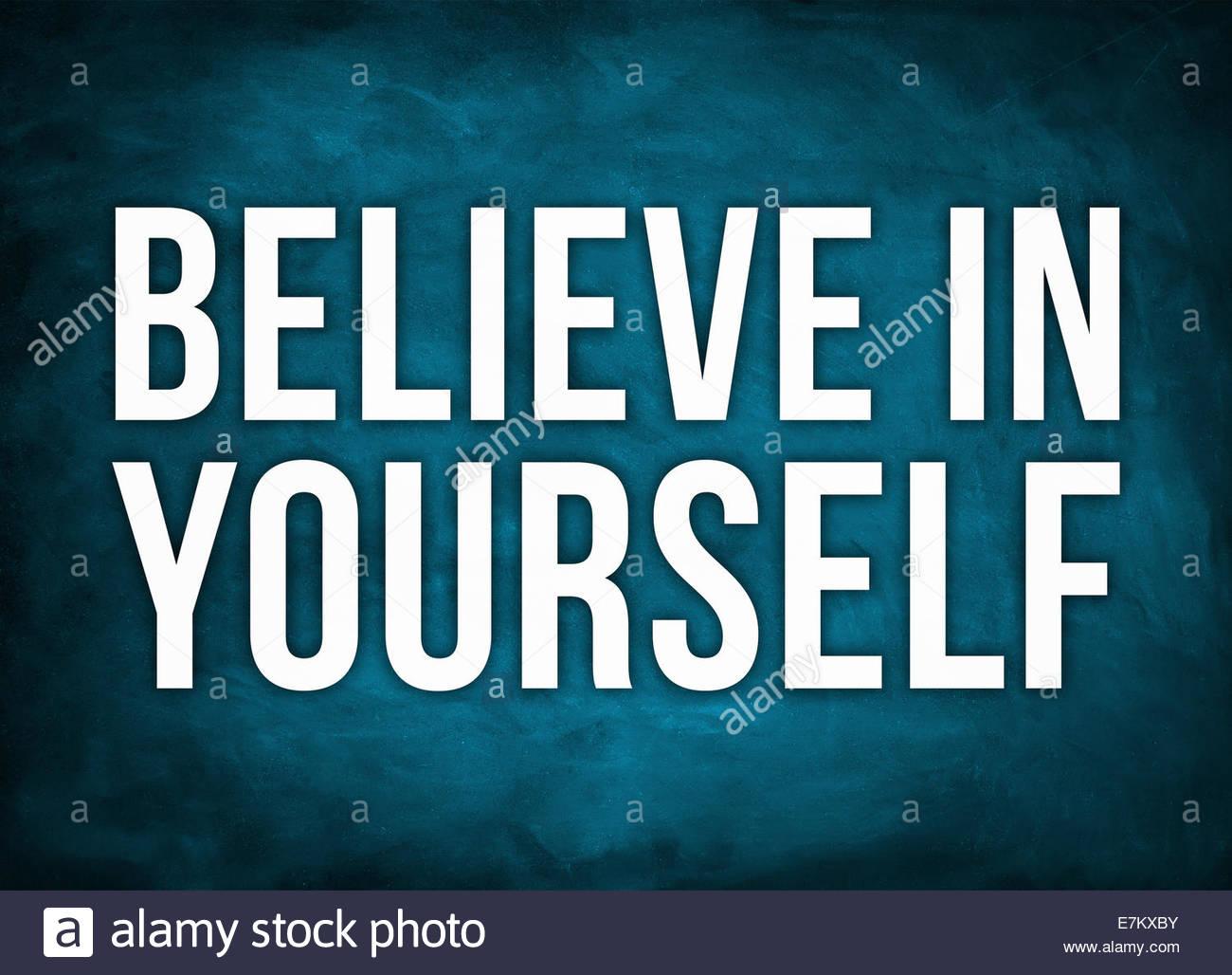 Glauben IN sich selbst-Konzept Stockbild