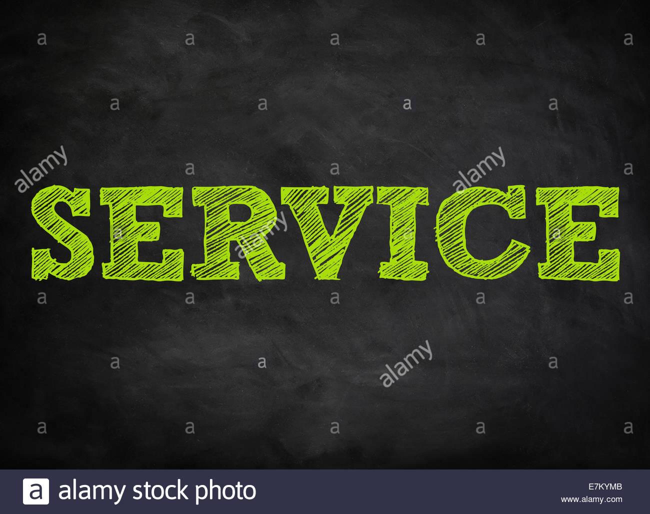 SERVICE - Tafel-Konzept Stockbild