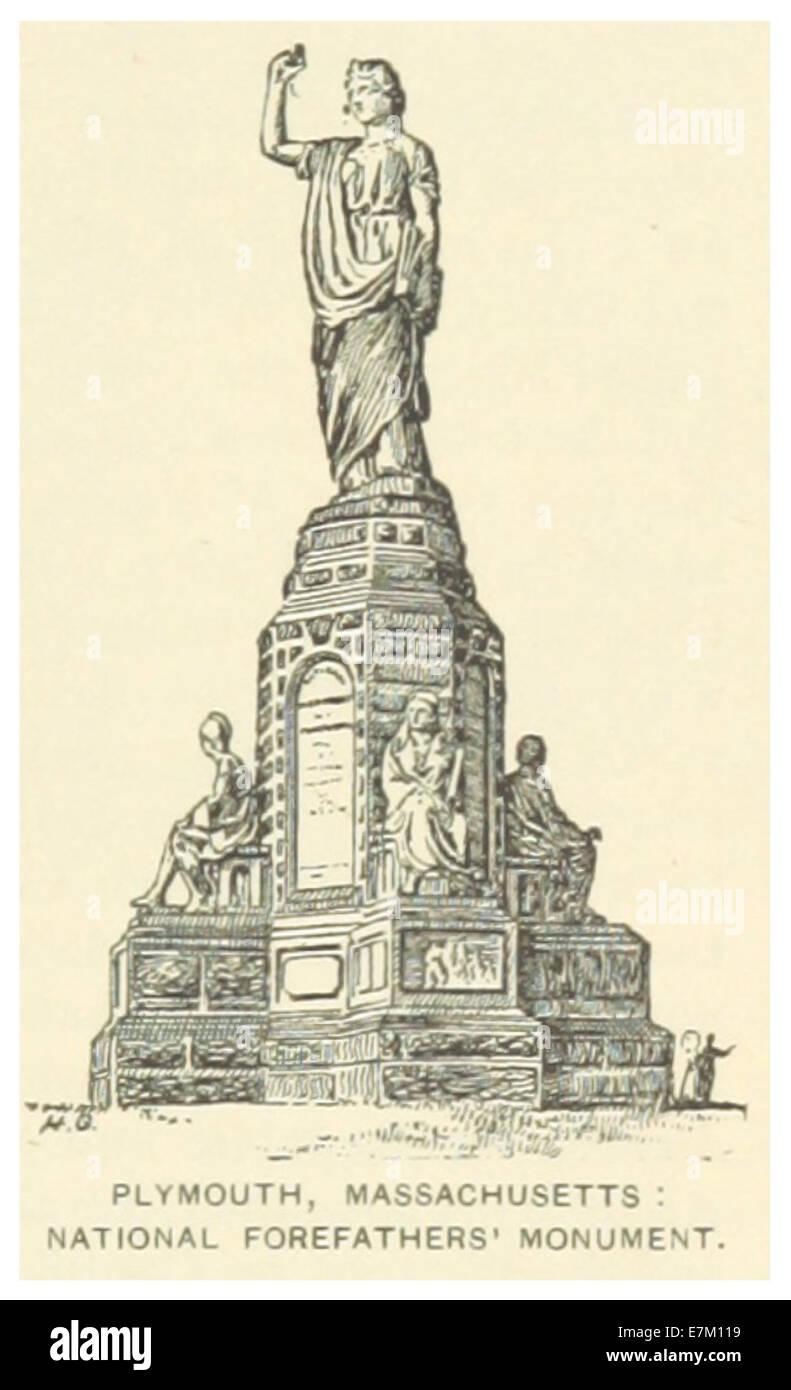 US(1891) p013 PLYMOUTH, nationale Vorfahren Denkmal Stockfoto