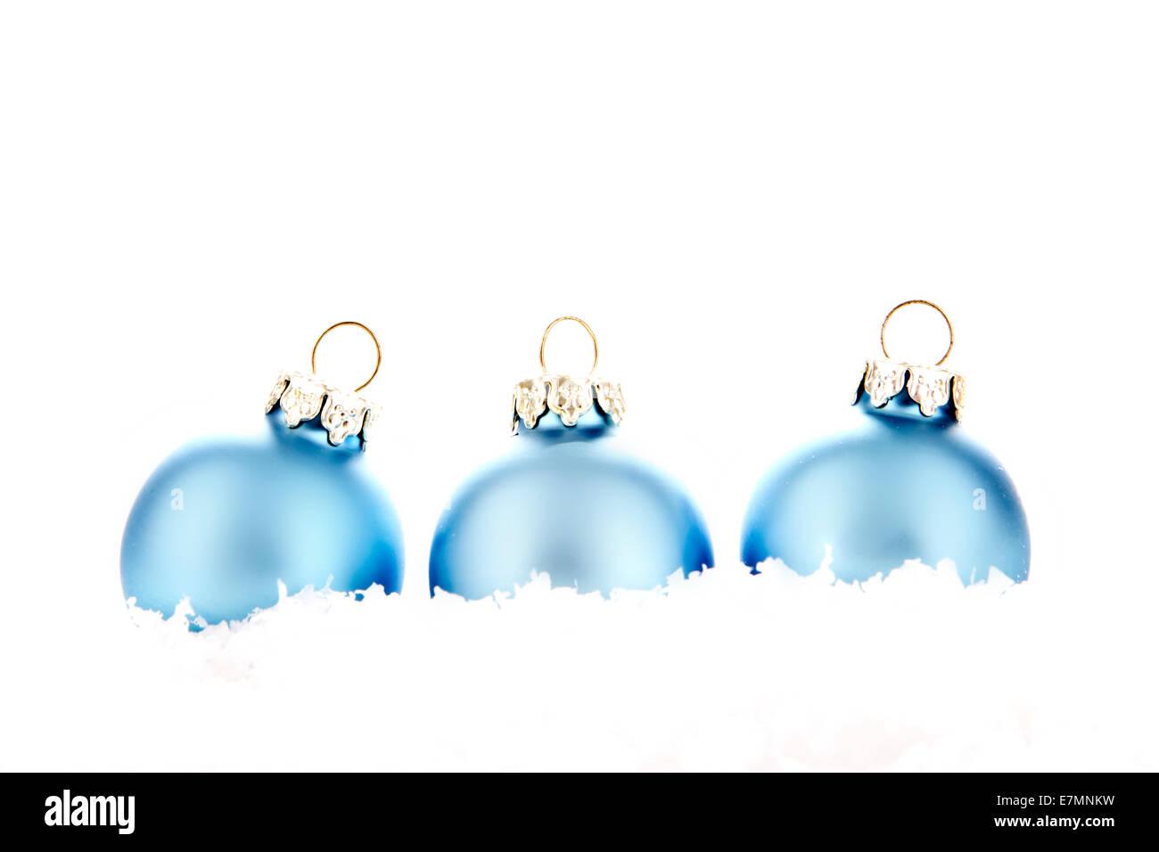 Colorful blue christmas baubles balls stockfotos - Weihnachtsdeko blau ...