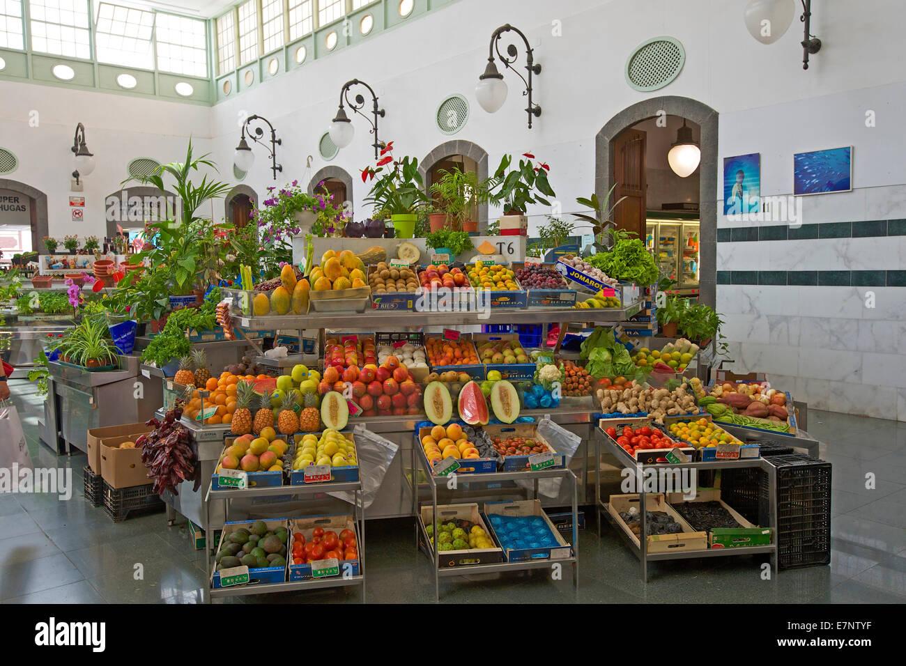Kanaren, Kanarische Inseln, Inseln, La Palma, Spanien, Europa, Tag, niemand, bedeckt-Markt, Markt, innen, Santa Stockbild