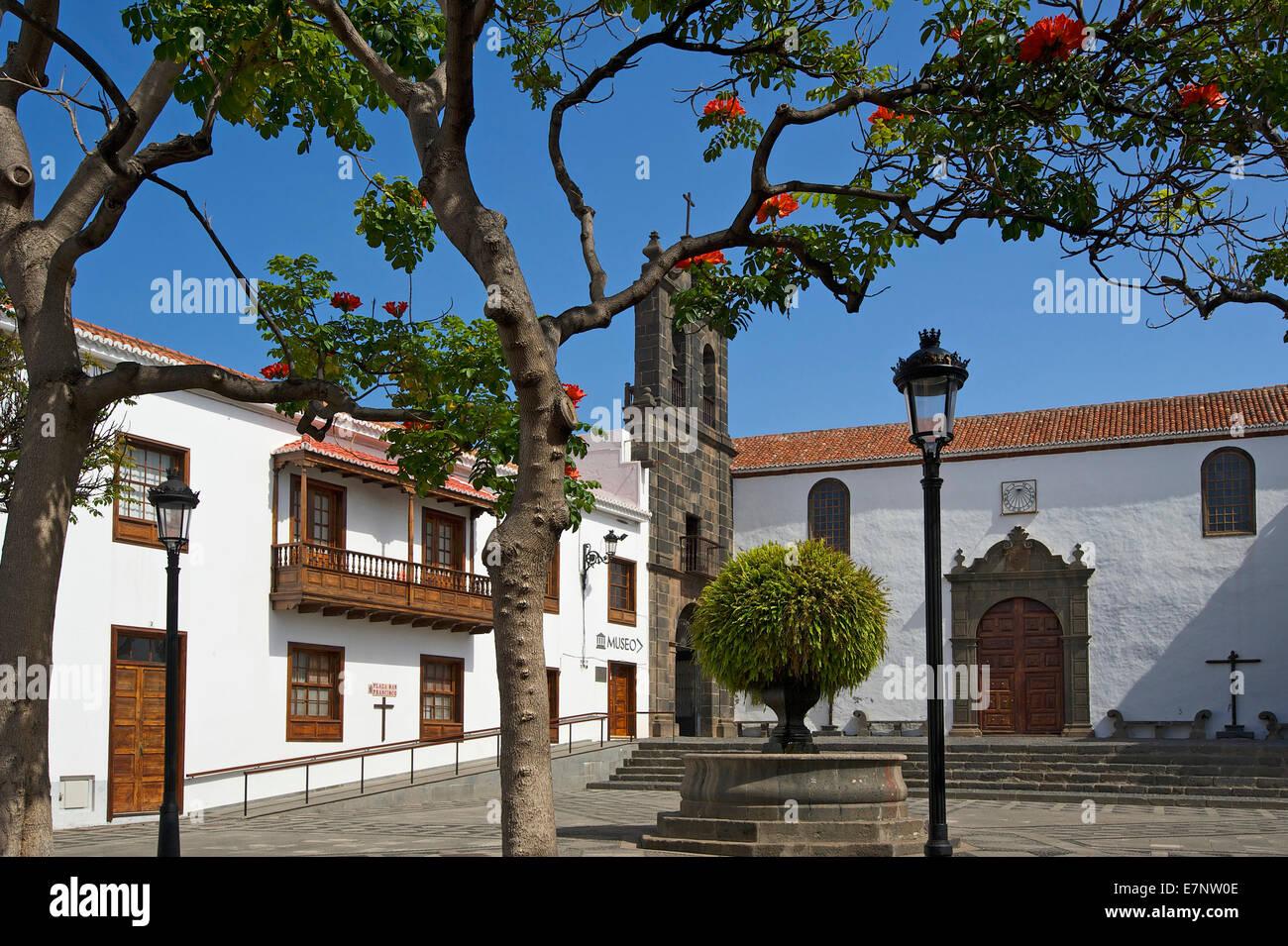 Kanaren, Kanarische Inseln, Inseln, La Palma, Spanien, Europa, draußen, Tag, niemand, Franziskaner Kloster, Stockbild