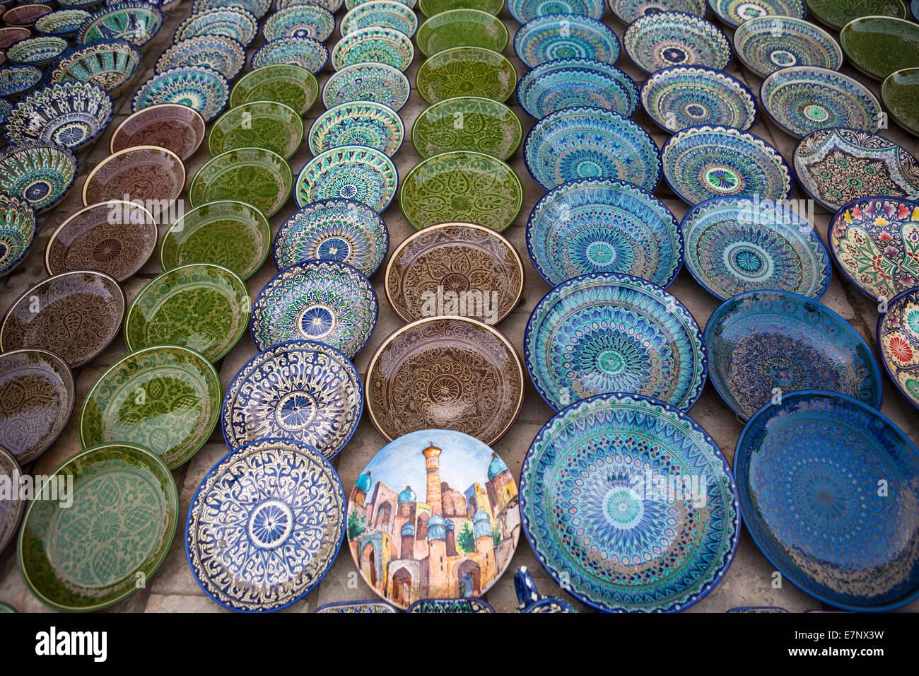 buchara usbekistan zentralasien asien keramik stadt bunt geschirr shop seidenstra e. Black Bedroom Furniture Sets. Home Design Ideas