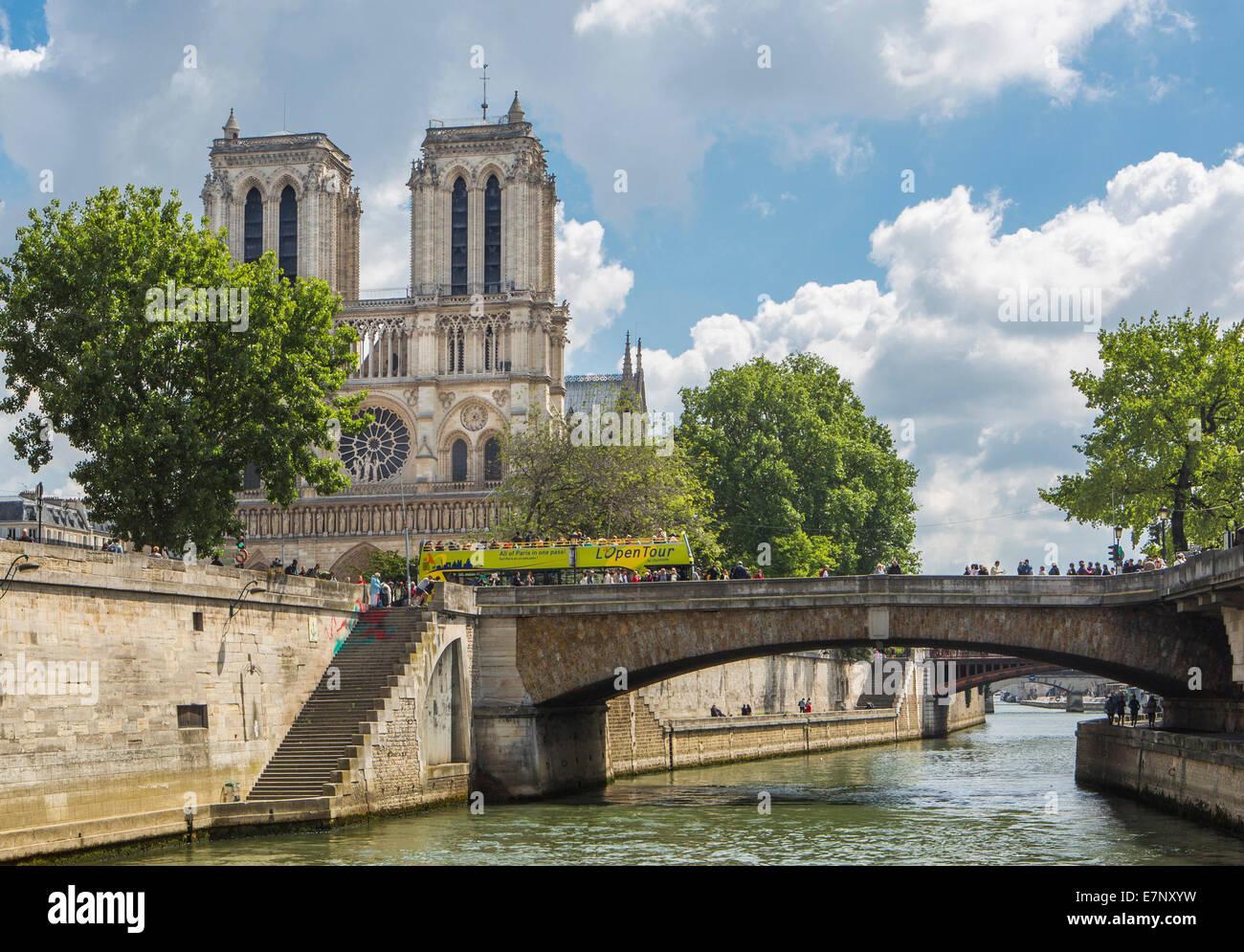 Kathedrale, Stadt, Frankreich, Notre Dame, Paris, Architektur, Brücke, zitieren, Innenstadt, Seine, Tourismus, Stockbild