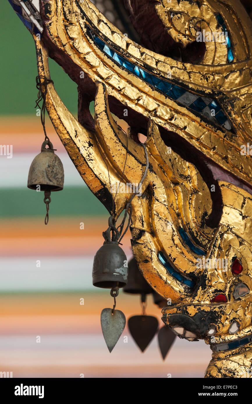 Thailand, Bangkok, Detail der buddhistischen Tempel Stockfoto