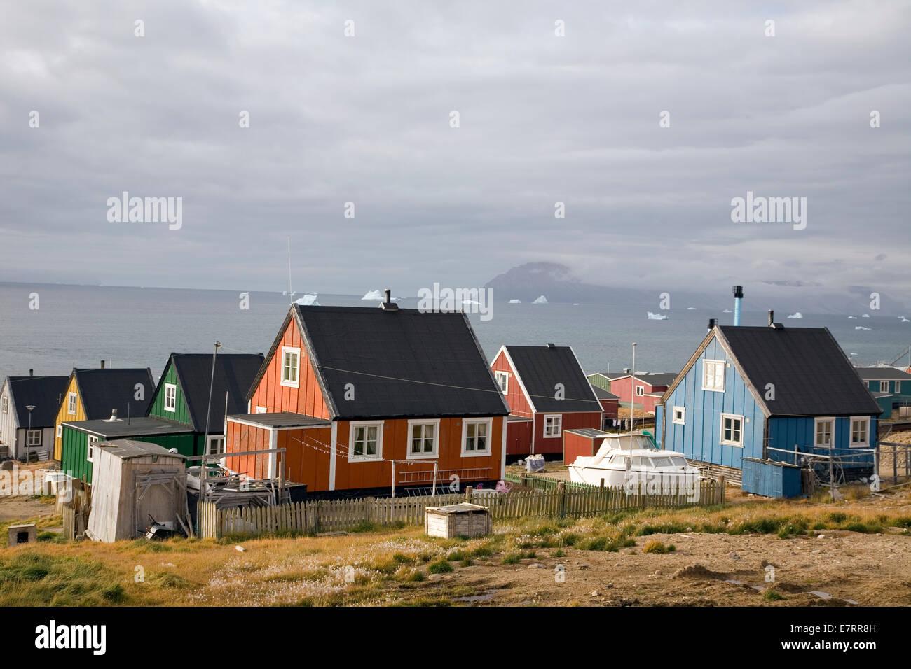 Qaanaaq, Grönland, Arktis Stockbild
