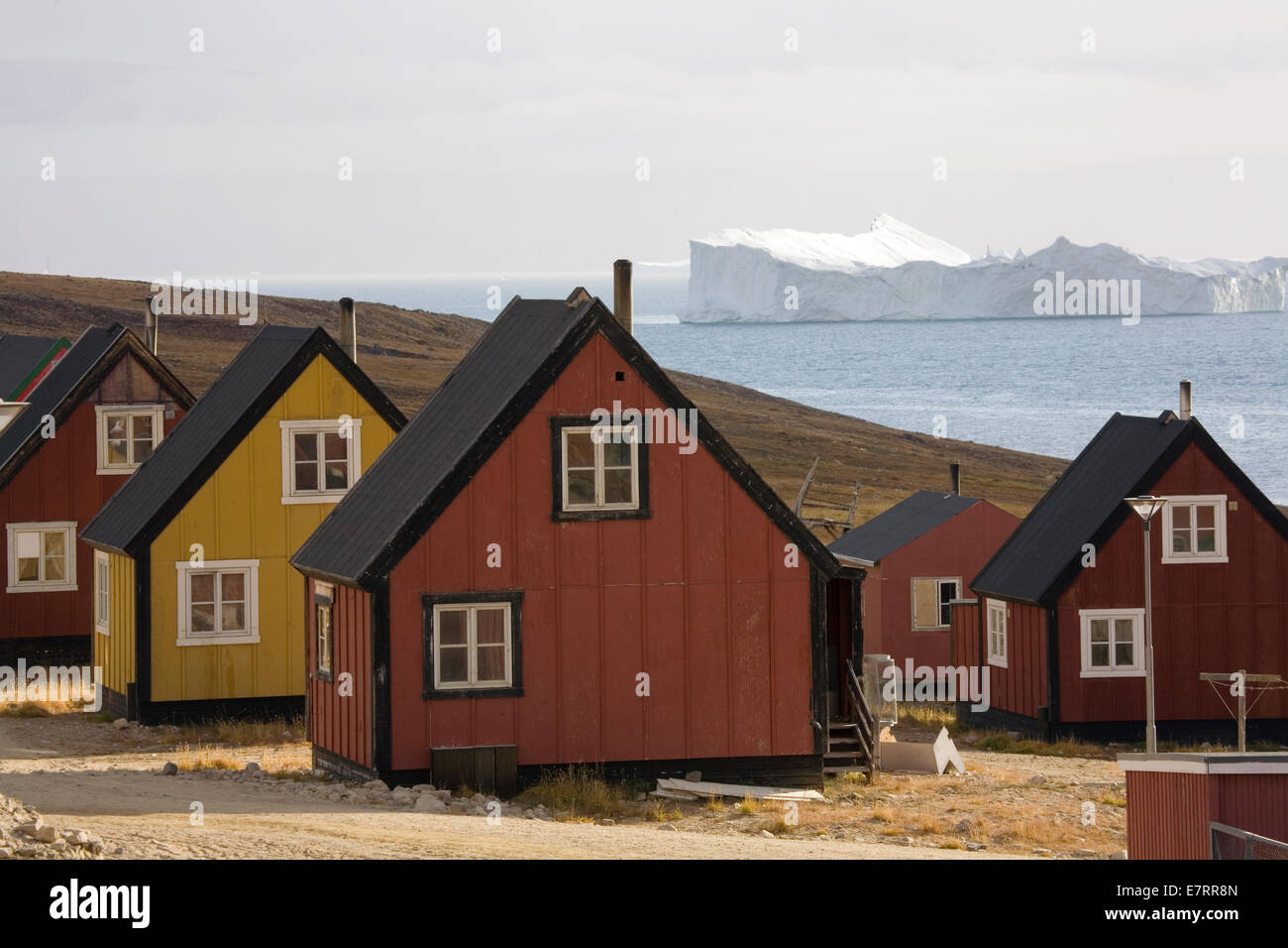 "Qaanaaq (auch bekannt als ""neue Thule""), Grönland, Arktis Stockbild"