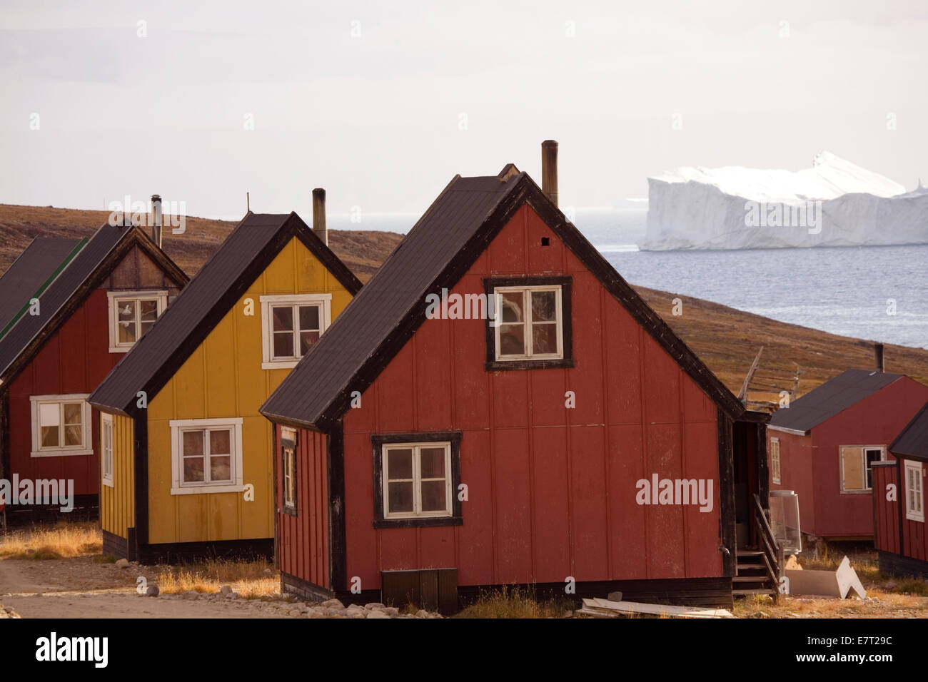 "Qaanaaq, auch bekannt als ""neue Thule,"" Grönland, Arktis Stockbild"