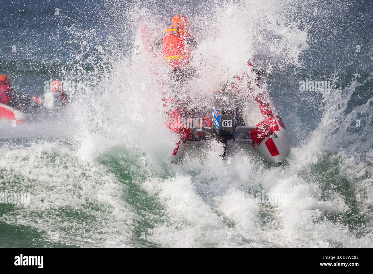 Thundercat Racing, Fistral Strand, Newquay, Cornwall UK Stockbild
