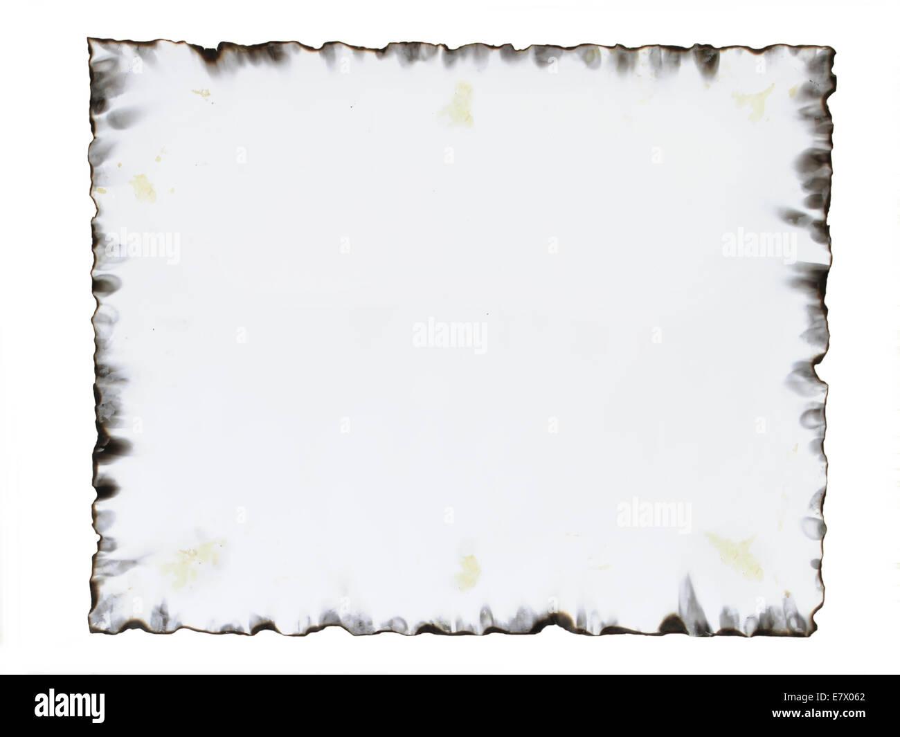 Verbranntes Papier Rahmen Stockfoto, Bild: 73714986 - Alamy