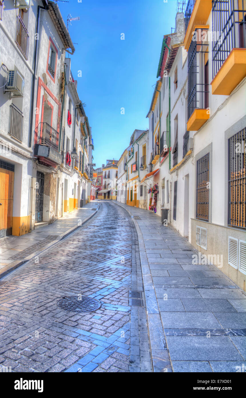 cordoba narrow street stockfotos cordoba narrow street bilder alamy. Black Bedroom Furniture Sets. Home Design Ideas