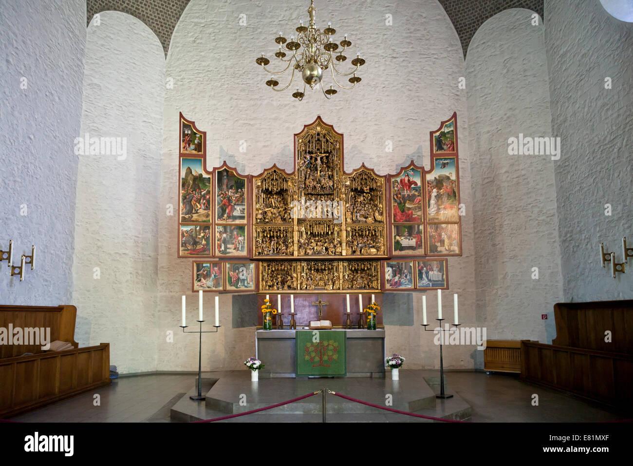 die geschnitzten altar in der kirche altst dter nicolaikirche bielefeld nordrhein westfalen. Black Bedroom Furniture Sets. Home Design Ideas