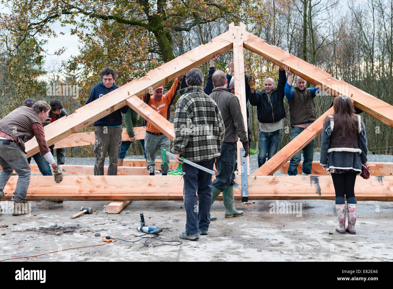 roof truss stockfotos roof truss bilder alamy. Black Bedroom Furniture Sets. Home Design Ideas