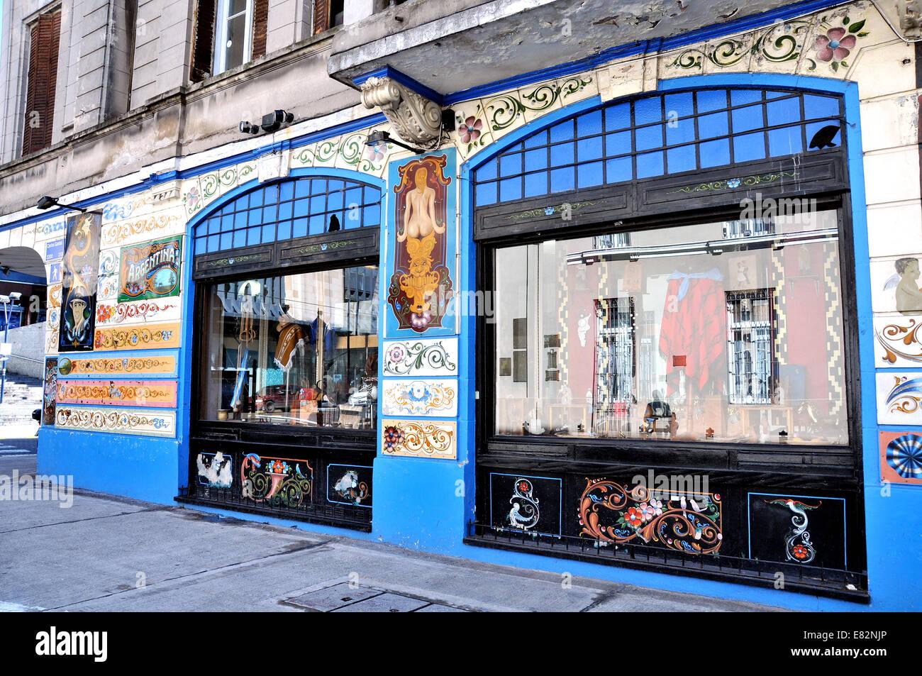 Speichern von Carlos Gardel Straße Buenos Aires Argentinien Stockbild