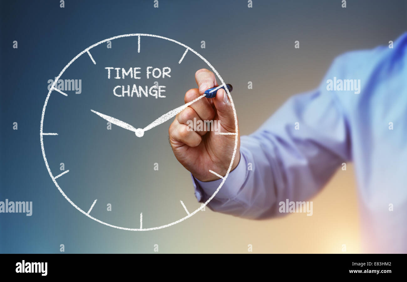 Zeit für Veränderung Stockbild