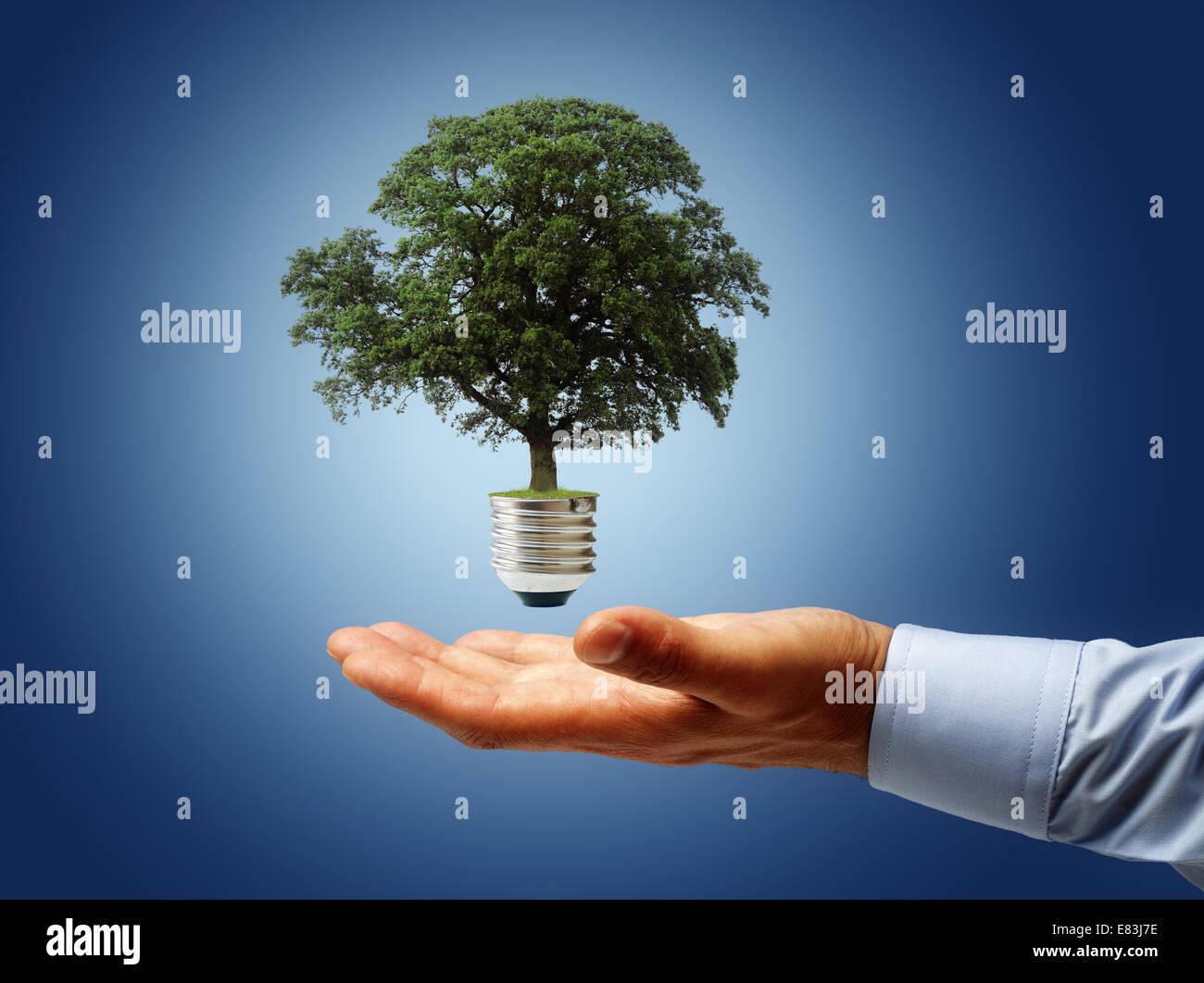 Schonung der Umwelt Stockbild