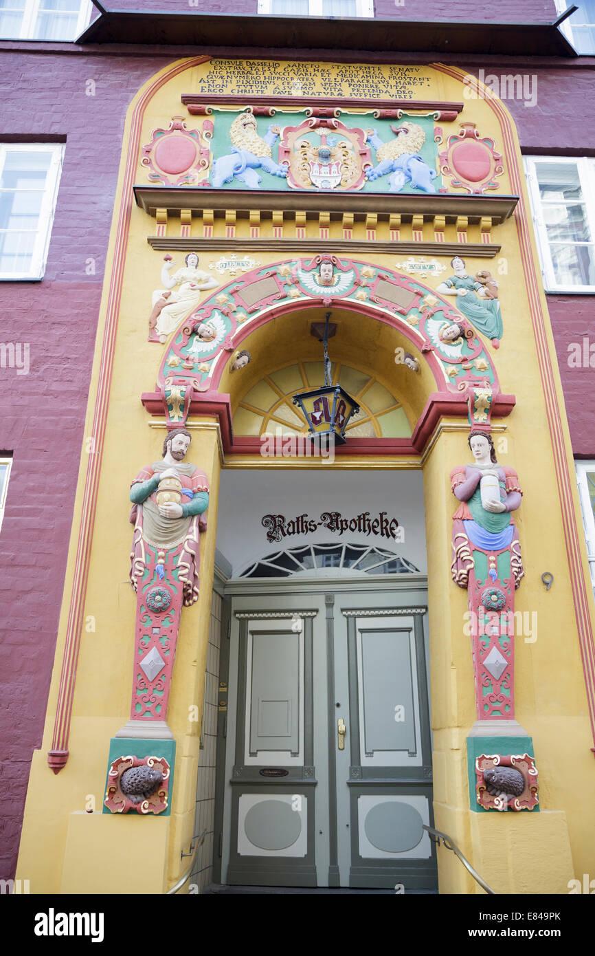Rats Apotheke, Lüneburg, Niedersachsen, Deutschland Stockbild