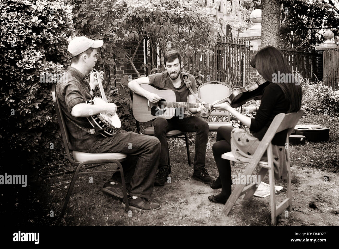 Old Time Music Jam In Brooklyn New York Stockfoto Bild 73856783