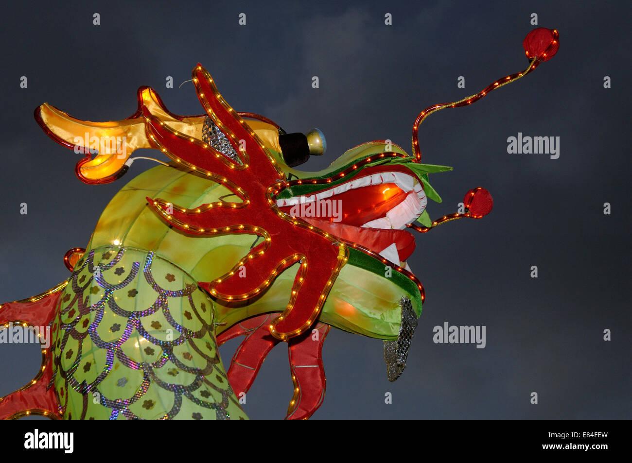Papier-Drachen-Dekoration beim chinesischen Neujahrsfest Stockfoto ...
