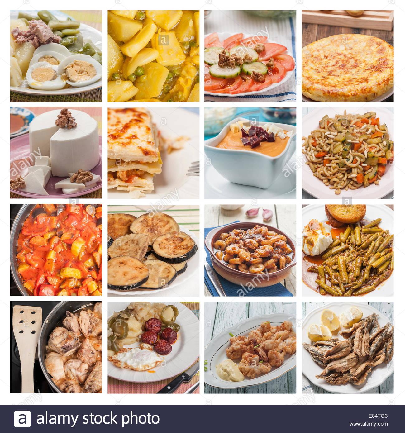 Mediterrane Küche-Fisch und Gemüse Rezepte Stockfoto, Bild: 73865795 ...