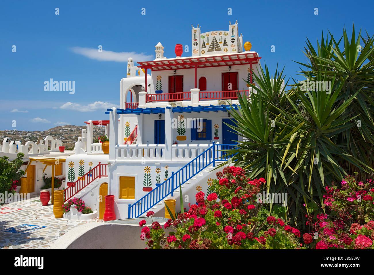 hotels in der n he von ano mera mykonos kykladen griechenland stockfoto bild 73874861 alamy. Black Bedroom Furniture Sets. Home Design Ideas