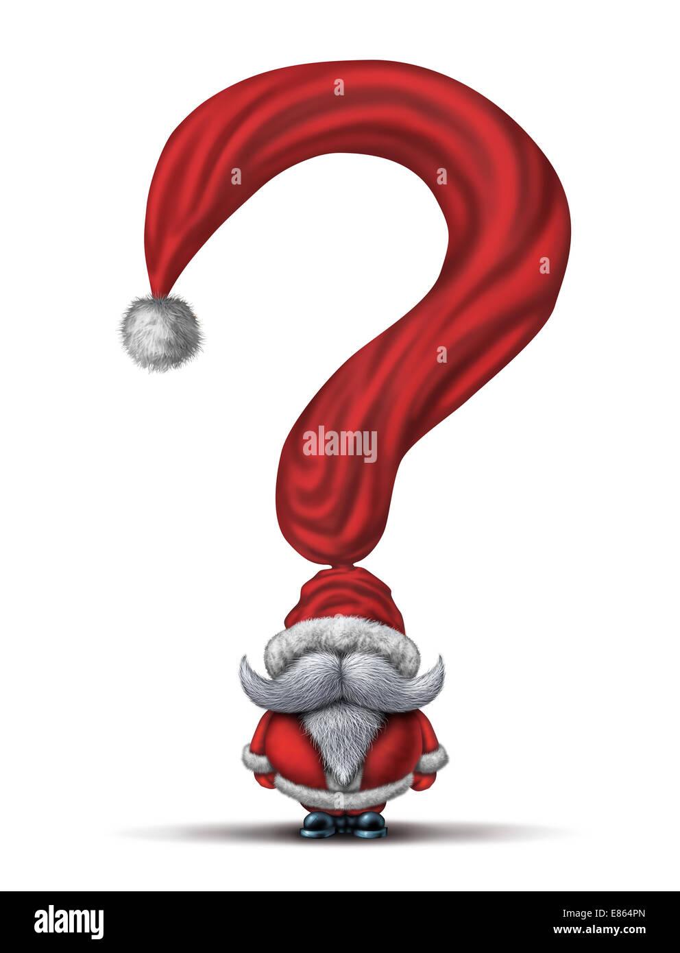 Weihnachten-Fragen und Urlaub Geschenk kaufen Guide Symbol als Santa ...
