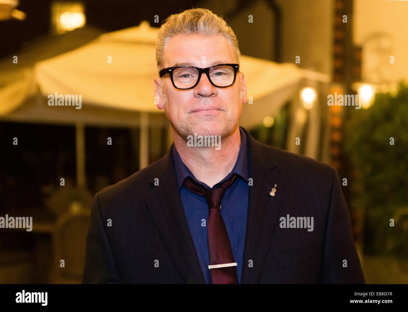 Mark Kermode ist Filmkritiker Stockbild
