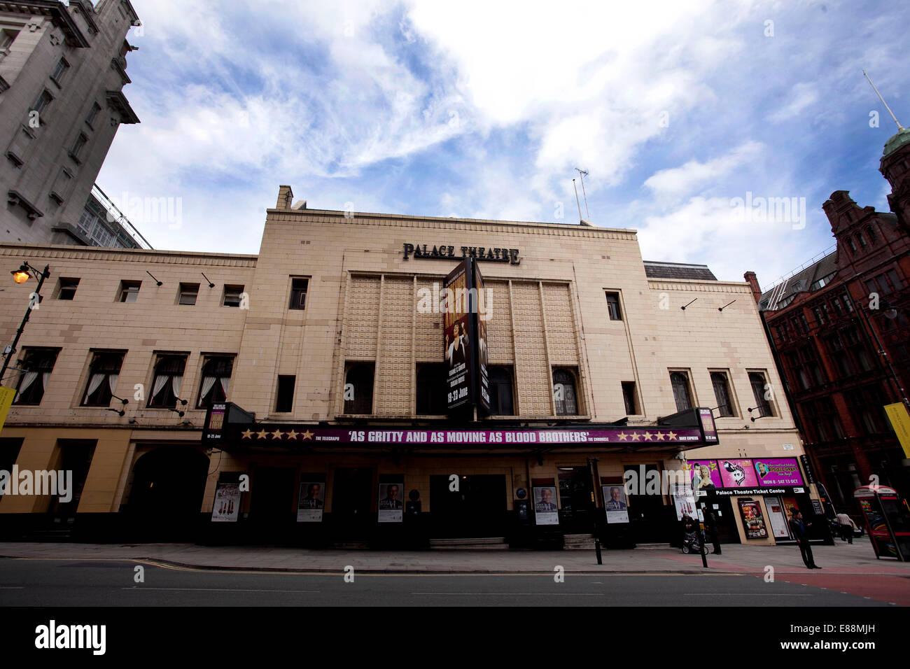 25.06.12 GV des Palace Theatre, Oxford Straße, Manchester. Stockbild