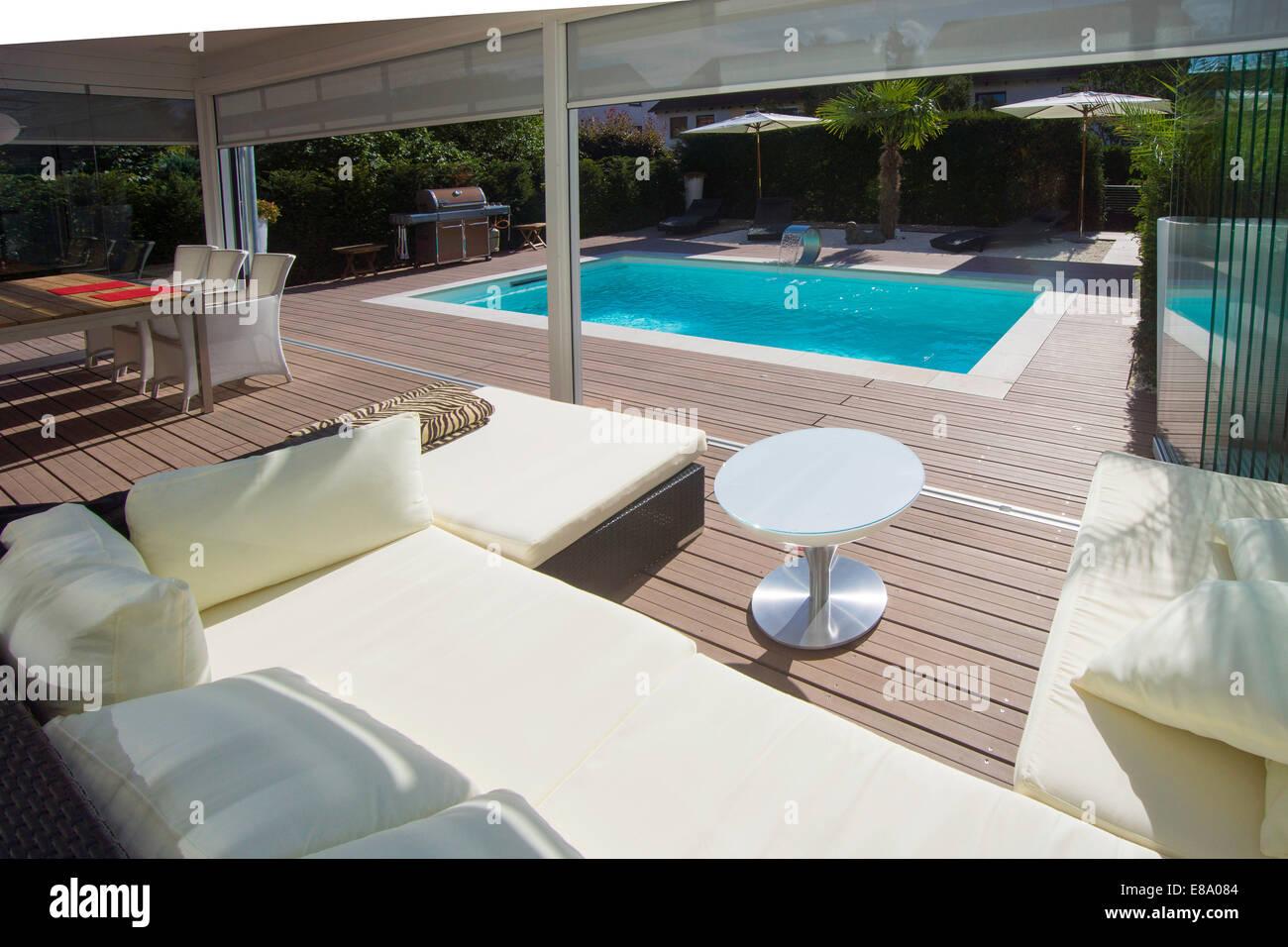 Privates Haus Mit Einem Wintergarten Eine Lounge Einen