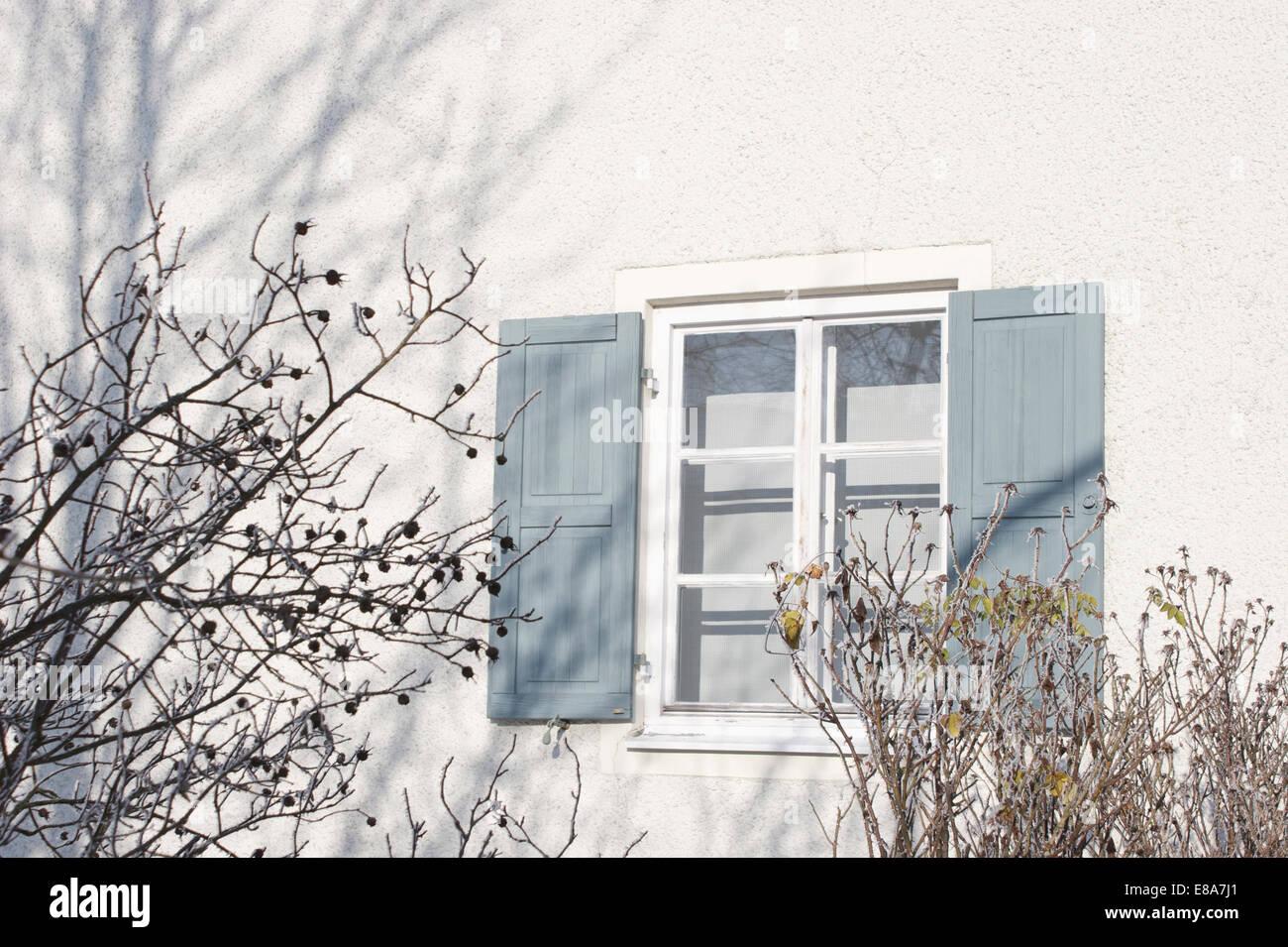 Gebäudehülle, München, Deutschland Stockbild