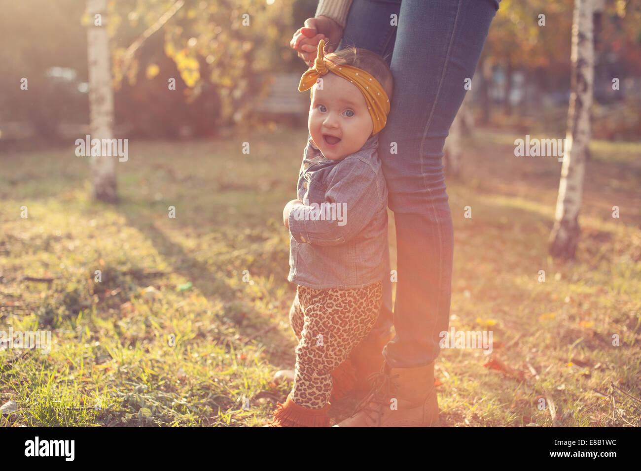 Modische sechs Monate Baby Modell Stockbild