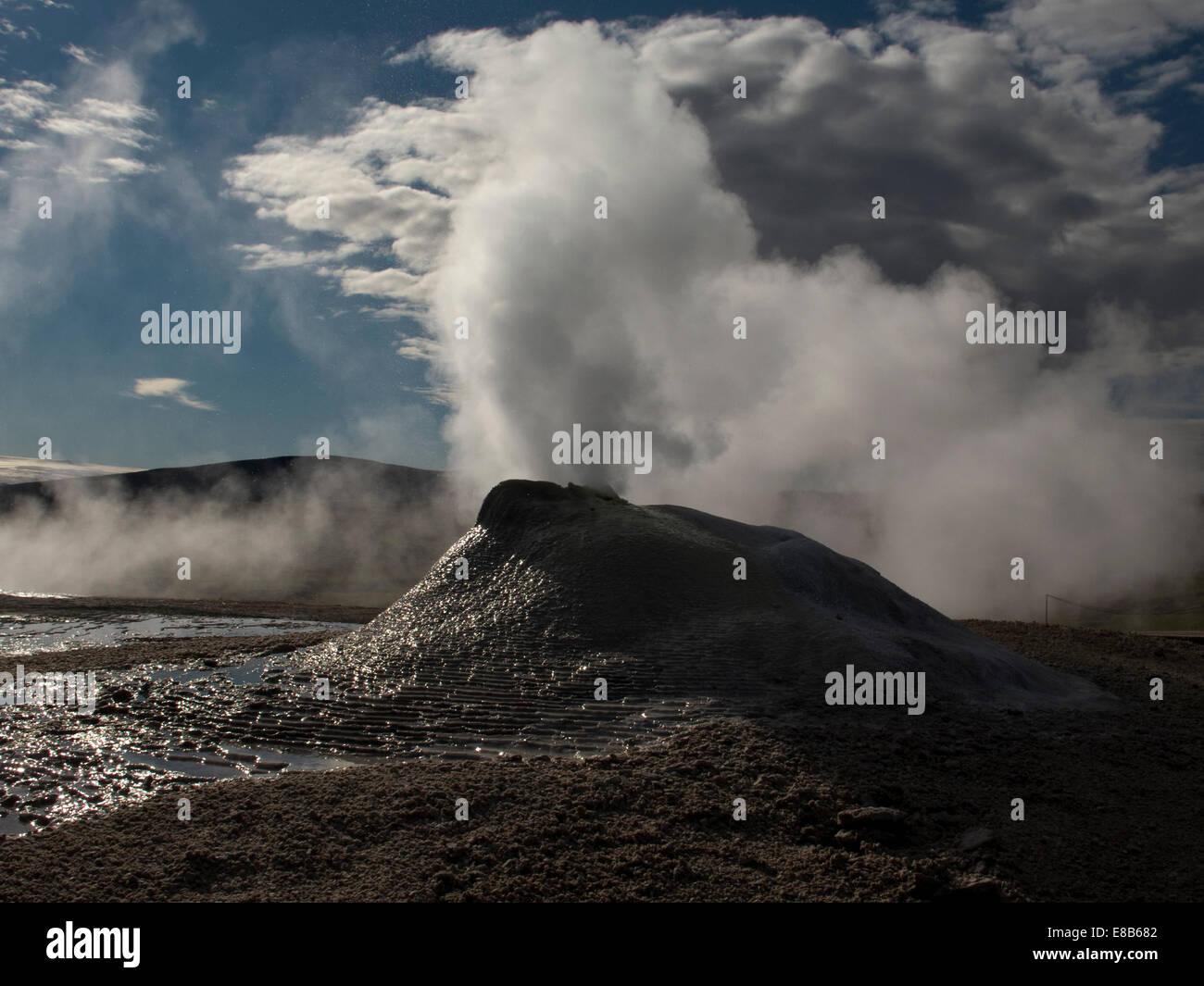 Fumarole in Hveravellir, central Island Stockbild