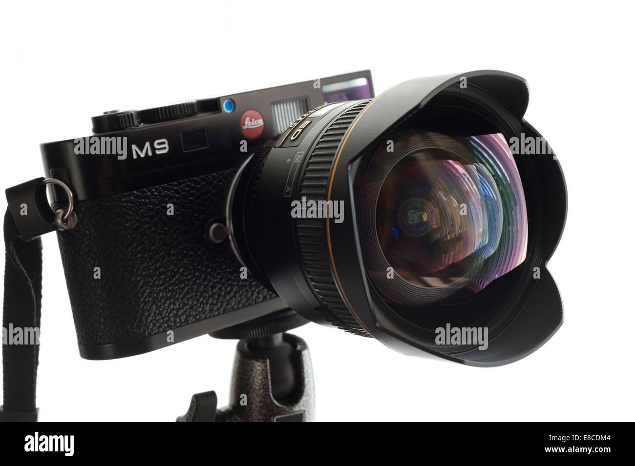Digitaler Entfernungsmesser Nikon : Leica m digitale messsucherkamera mit nikon mm objektiv