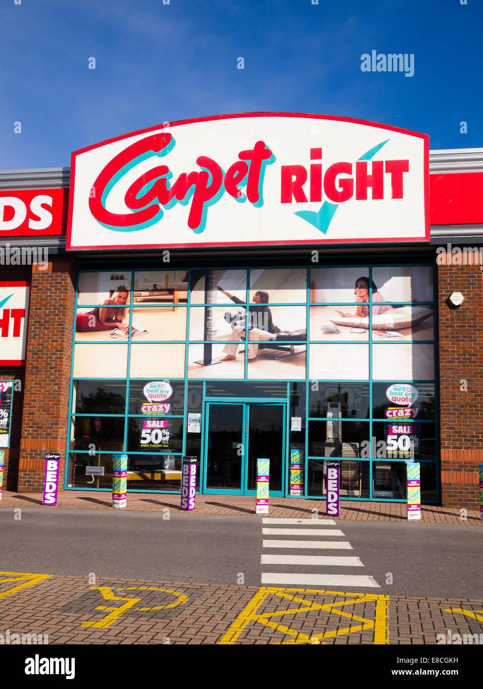Teppich direkt, Slough shopping Park, England, UK Stockbild