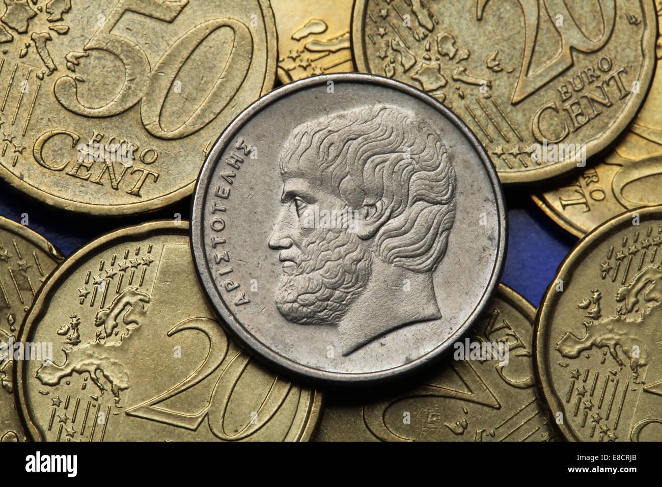 Münzen Aus Griechenland Der Griechische Philosoph Das Den