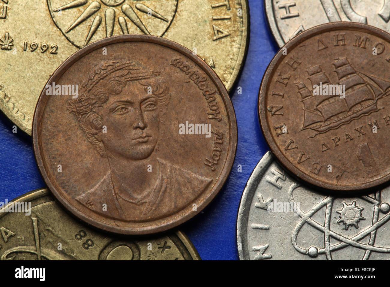 Münzen Aus Griechenland Griechische Nationale Heldin Das Manto