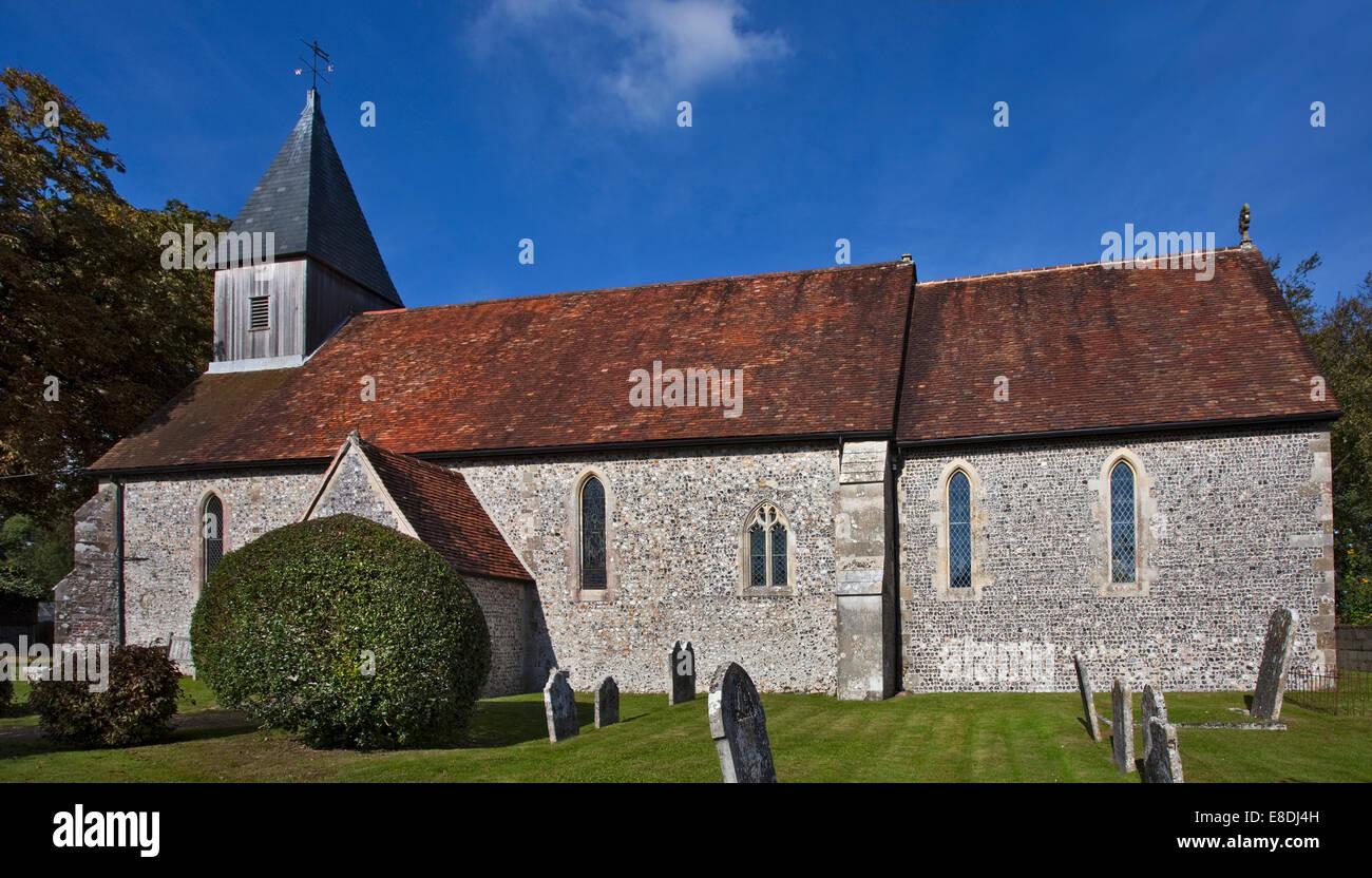 St. Peter und Paul Kirche, Exton, Hampshire, England Stockbild